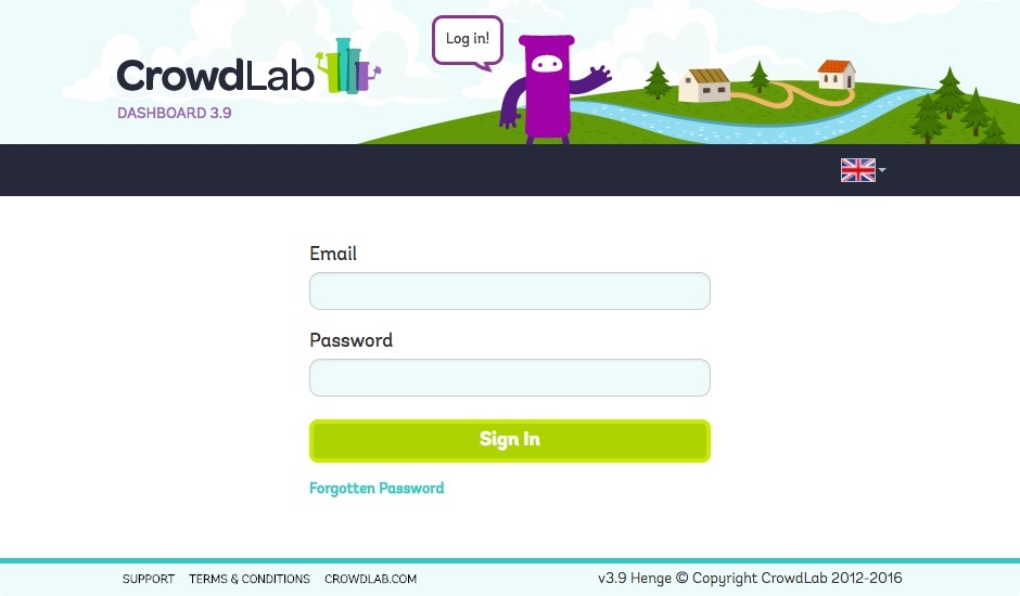 Screenshot of CrowdLab website